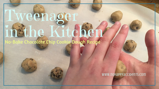 no bake chocolate chip cookie dough recipe, tweenager in the kitchen